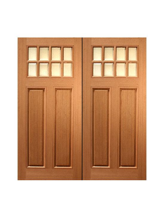 """72"""" x 80"""" (6'-0"""" x 6'-8"""") Mahogany Double Exterior Door, Arch 4 Lite - SKU#HTC-50_2BrandAAWDoor TypeExteriorManufacturer CollectionBudget DoorsDoor ModelDoor MaterialWoodgrainVeneerPrice1640Door Size Options2(36"""") x 80"""" (6'-0"""" x 6'-8"""")  $0Core TypeDoor StyleCraftsmanDoor Lite Style8 LiteDoor Panel Style2 PanelHome Style MatchingCraftsman , Rustic , Southwest , PrairieDoor ConstructionPrehanging OptionsPrehungPrehung ConfigurationDouble DoorDoor Thickness (Inches)1.75Glass Thickness (Inches)Glass TypeGlass CamingGlass FeaturesGlass StyleGlass TextureGlass ObscurityDoor FeaturesDoor ApprovalsDoor FinishesDoor AccessoriesWeight (lbs)850Crating Size25"""" (w)x 108"""" (l)x 52"""" (h)Lead TimeSlab Doors: 7 daysPrehung:14 daysPrefinished, PreHung:21 daysWarranty"""