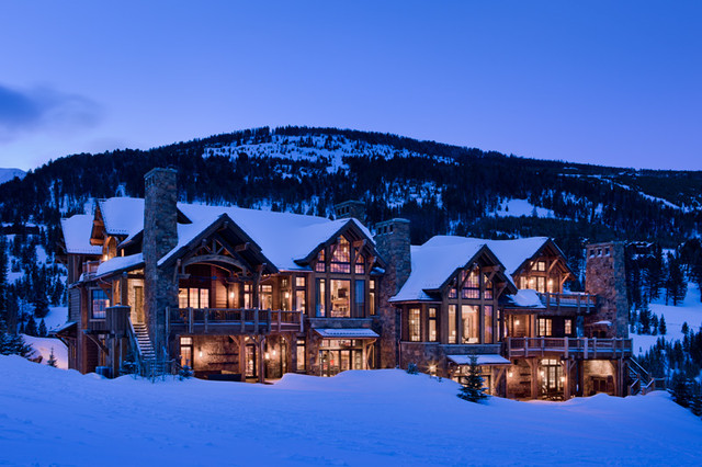 East Slopeside Chalet traditional-exterior
