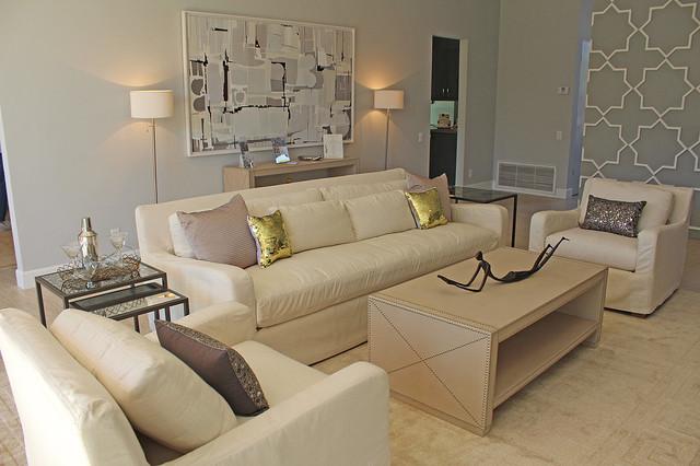 Palm Desert Mid Century Morrocan Living Room modern-living-room