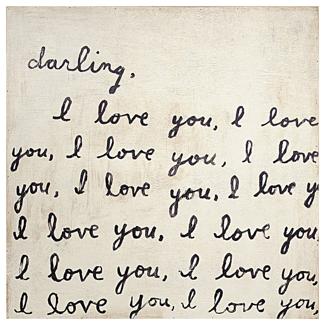 Darling I Love You' Reclaimed Wood Art Print Wall Art - Top transitional-prints-and-posters
