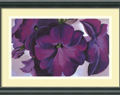"""Petunias, 1925"" Framed Print by Georgia O'Keeffe traditional-prints-and-posters"