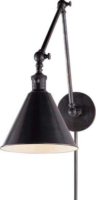 Boston Functional Library Two-Arm Wall Light traditional-wall-lighting