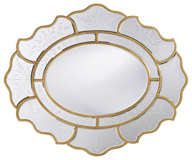 Trevian Antique Gold Mirror traditional-mirrors