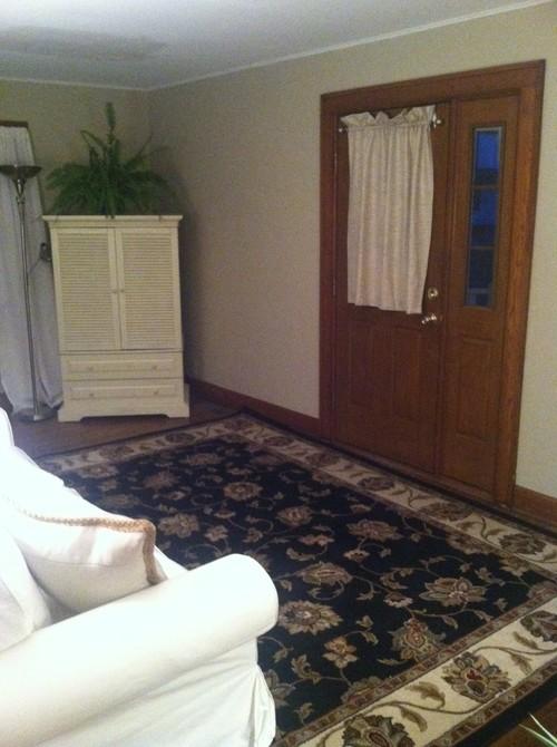 Living Room Door Splits Room