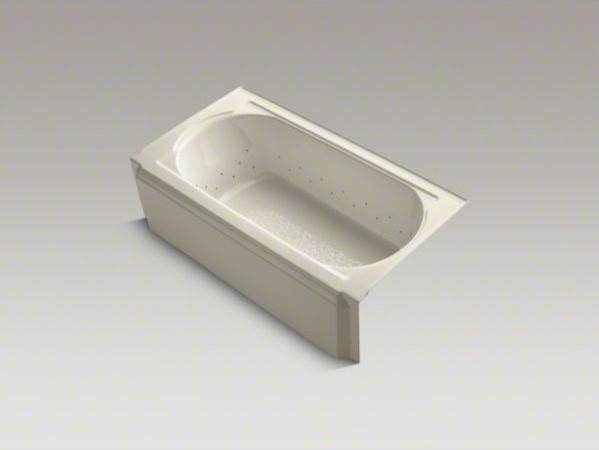 "KOHLER Memoirs(R) 60"" x 34"" alcove BubbleMassage(TM) Air Bath with Vibrant(R) Br contemporary-bathtubs"
