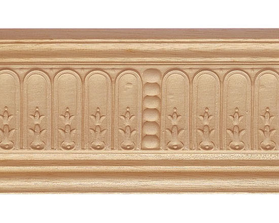 "Inviting Home - Morgan Crown Molding - wood crown molding 4-1/4""H x 4-1/4""P x 5-3/4""F sold in 8 foot length (3 piece minimum required) Decorative Bass wood crown molding specifications Outstanding quality crown molding profile milled from high grade kiln dried solid bass wood. High relief ornamental design crafted using fine grade stainable composition material. Crown molding sold unfinished and can be easily stained painted or glazed. The installation of the wood crown molding should be treated the same manner as you would treat any wood molding: all molding should be kept in a clean and dry environment away from excessive moisture. acclimate wooden moldings for 5-7 days. when installing wood crown moldings it is recommended to nail molding securely to studs and glue all mitered corners for maximum support."