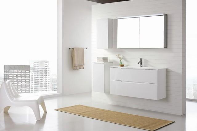 aspen 1200mm wall hung white bathroom vanity modern