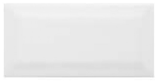 Beveled Ice White Glossy Subway Tile, 10 Square Feet contemporary-tile