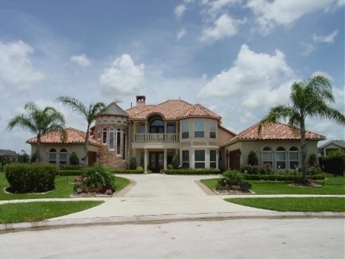 Custom Homes mediterranean-exterior