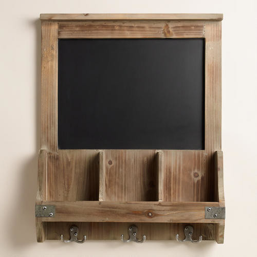 Elliot Chalkboard Cubby and Hook Wall Storage - Bulletin Boards And Chalkboards - by Cost Plus ...