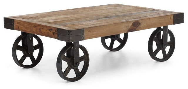 Barbary Coast Factory Cart Table Modern Coffee Tables