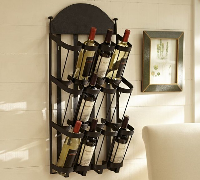 Vintners Wall-Mount Wine Rack - Contemporary - Wine Racks - sacramento - by Pottery Barn