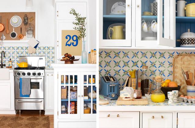 Jessica Thomas Stylis White Kitchen Tile Blue Green Yellow