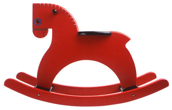 Playsam Rocking Horse, Red traditional kids toys