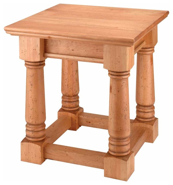 Sofa Tables UnFinished Pine Sofa End Table Kit | 194210 - Traditional ...