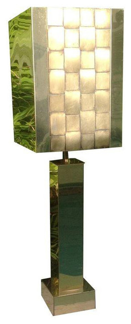 1976 Curtis Jere Brass Table Lamp - $2,000 Est. Retail - $1,450 on Chairish.com mediterranean-table-lamps
