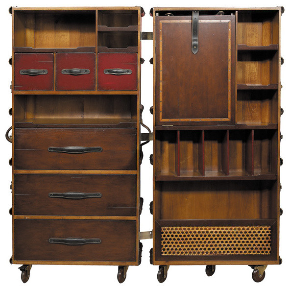 Armoire Trunk (black) - Rustic - Armoires And Wardrobes - by Inviting Home Inc