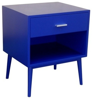 Threshold Blue One Drawer Accent Table Modern