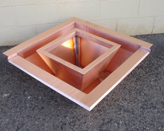 Pool accessories #13 - Spice up your outside decor with our copper and stainless steel fire pots! Available in both round and square shapes. We can make custom sizes in addtion to these standard ones online - just give us a call at 1-888-986-1535 and we will be happy to help you design the ultimate outdoor living space.