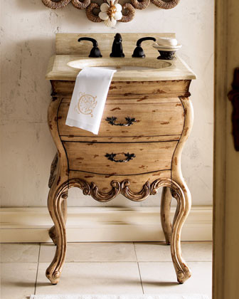 Ambella - Ivory-Rubbed Chest w/Sink traditional bathroom vanities and sink consoles