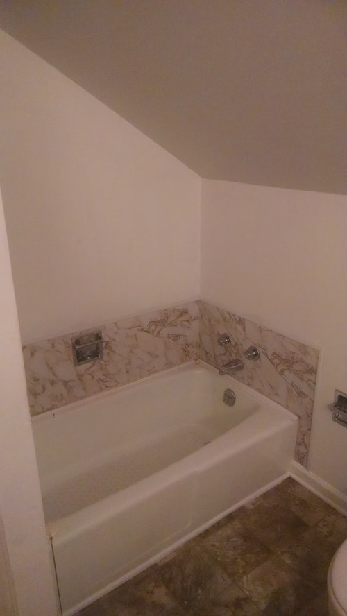 Need A Shower Solution For Slanted Ceiling Bathroom