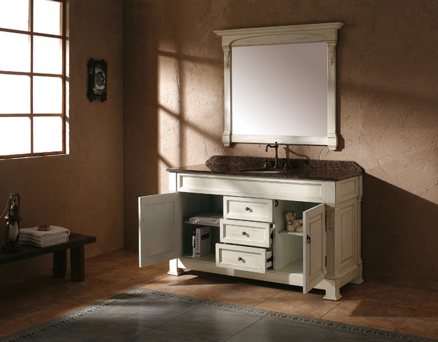 "60"" Bosco Single Bath Vanity - Antique White traditional-bathroom-vanities-and-sink-consoles"