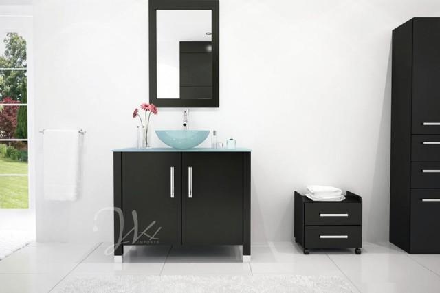 ... Bathroom Vanity with Glass Top and Bowl modern-bathroom-vanities-and