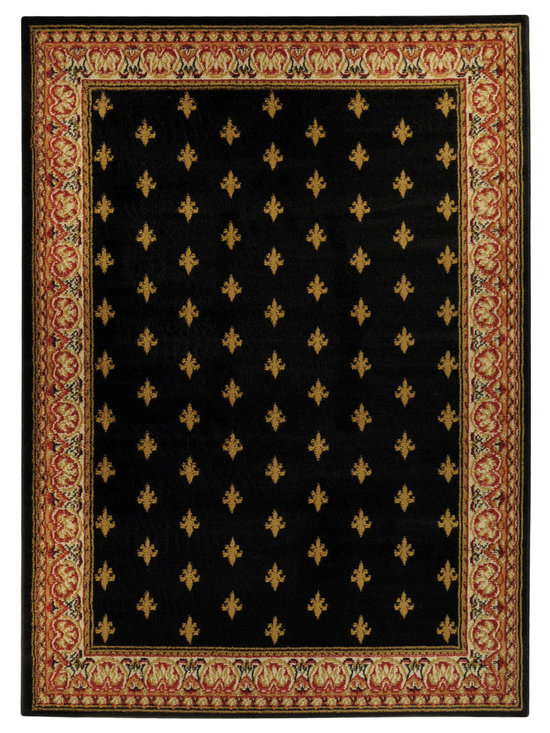 None - Ephesus Collection Black French Border Area Rug (8'2 x 9'10) - This gorgeous,exotic rug is easy to vacuum,stain resistant and is extremely durable. The Ephesus Collection features an anti-static low pile and they naturally resist stains,fading,soil and bacteria.