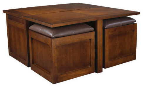 Hammary Nuance Lift-Top Square Coffee Table contemporary-coffee-tables