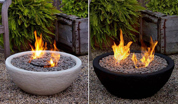 Outdoor Ventless Fire Bowl - modern - firepits - austin - by ...
