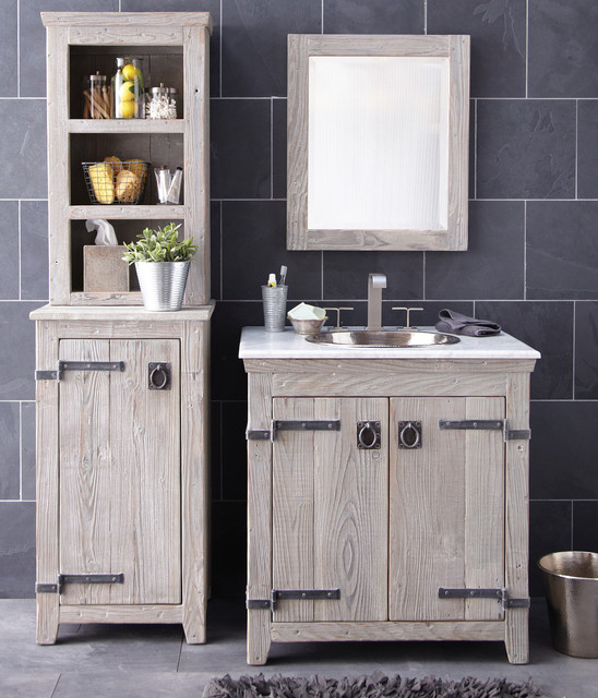 Nautical Style Bathroom Vanities: Americana Vanity, Cabinet, And Hutch By Native Trails