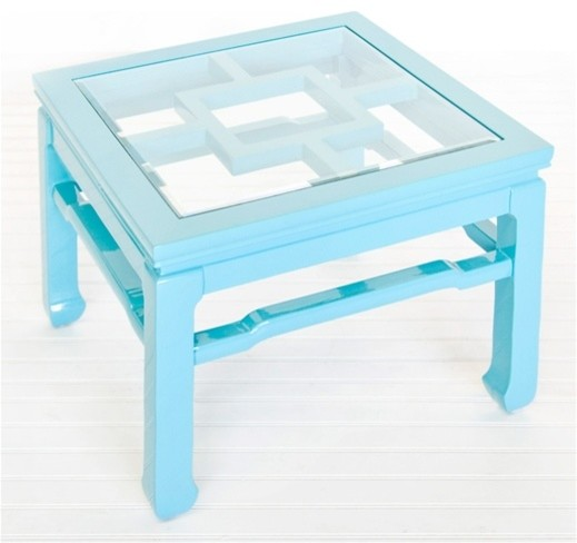 Worlds Away Wangright Turquoise Cocktail Table Asian Coffee Tables By Layla Grayce