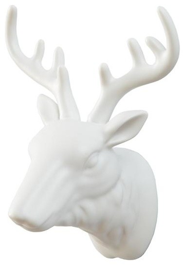 Warden Deer Head Wall Decor eclectic-hooks-and-hangers