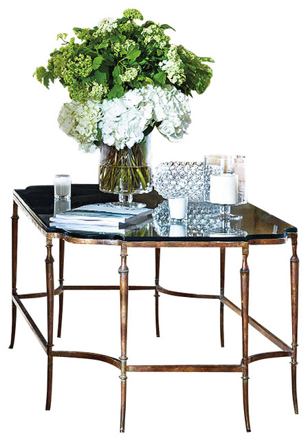Stanley Furniture Arrondissement Soiree Glass Top Cocktail Table Traditional Coffee Tables