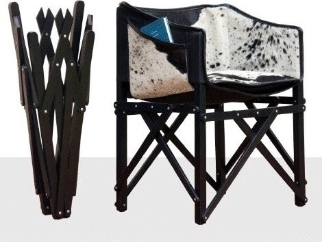 COCKTAIL CLUB CHAIR - COWHIDE & WOOD - CUSTOMIZE WOOD COLOR ! contemporary-living-room-chairs