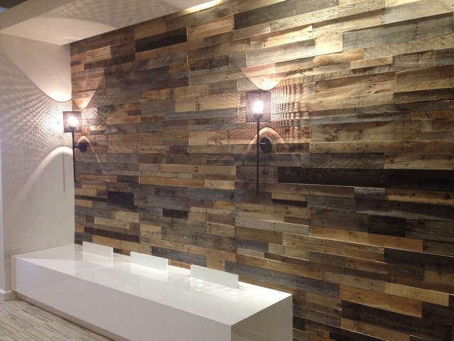 Recycled pallet and reclaimed wood paneling rustic for Price of reclaimed barn wood