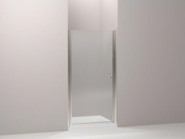 "KOHLER Fluence(R) pivot shower door, 65-1/2"" H x 28-3/4 - 30-1/4"" W, with 1/4"" t contemporary-showers"