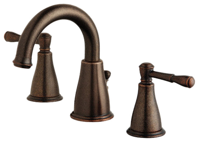 Danze D304015BR Tumbled Bronze Widespread Faucet modern-bathroom-faucets-and-showerheads