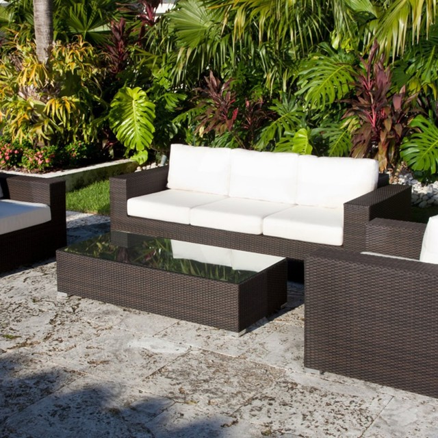 Source outdoor king collection all weather wicker outdoor for Outdoor patio furniture