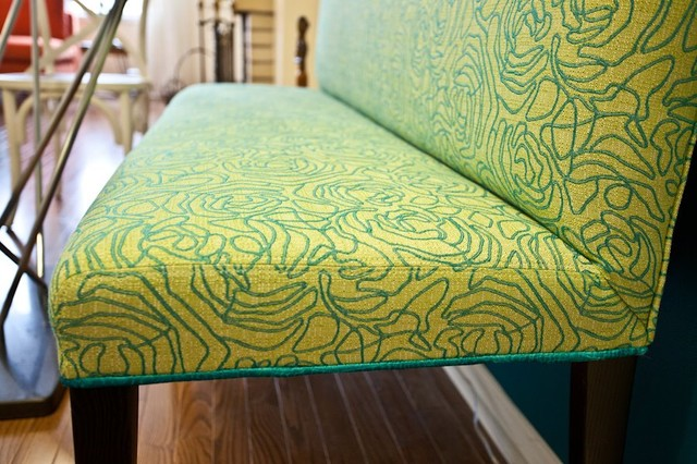 Banquette Bench contemporary-upholstery-fabric