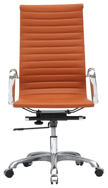 Modern office chair high back tan and camel modern office chairs