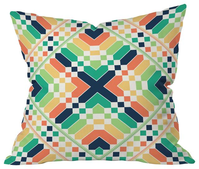 Budi Kwan Retrographic Rainbow Throw Pillow, 26x26x7 contemporary-decorative-pillows