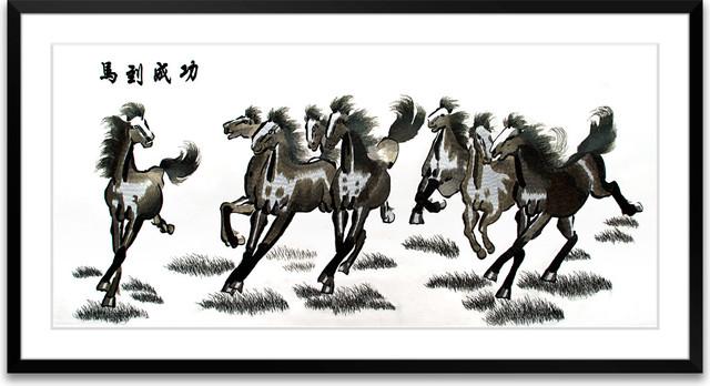 Immediate Success - Hand Designed Silk Art, Silk Embroidery asian-artwork