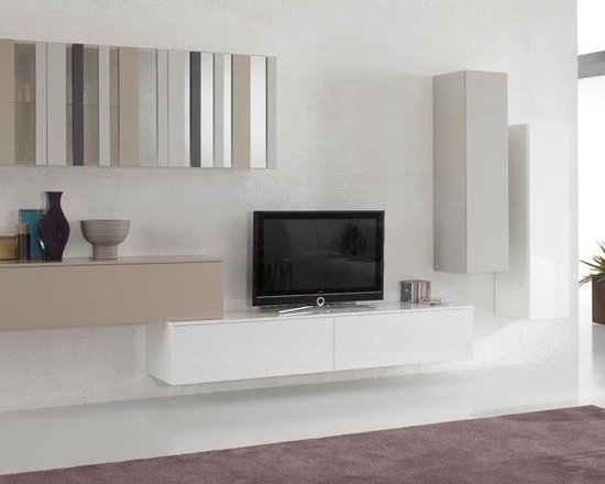 Wall Unit Modern Spar Exential Y03 - $5,558.00 - Modern Entertainment Center Exential Y03 by Gruppo Spar, Italy.