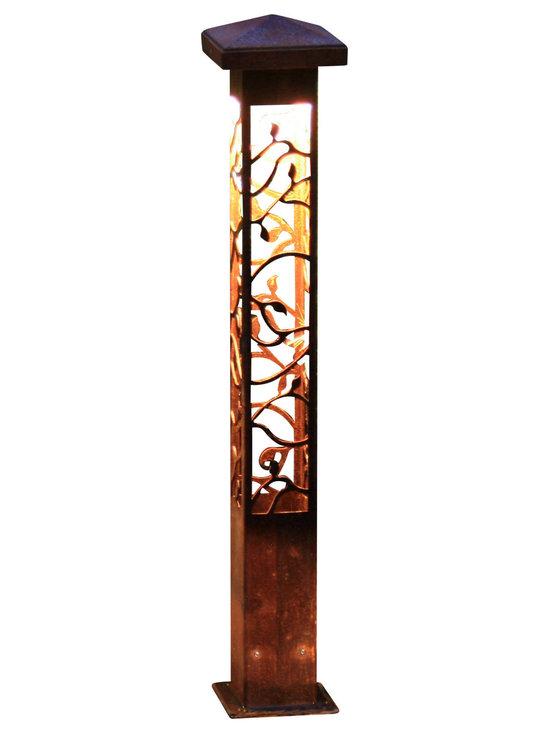 "Attraction Lights - Path Light- Decorative Steel- Vine Design - -Solid, 1/8"" high grade steel construction"