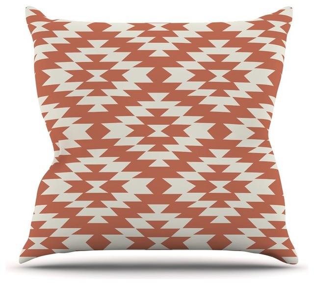 Red Coral Throw Pillows : Amanda Lane