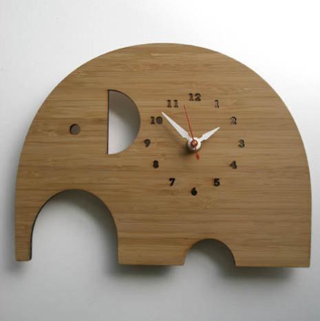 Decoy Lab Modern Animal Clock Elephant modern-clocks