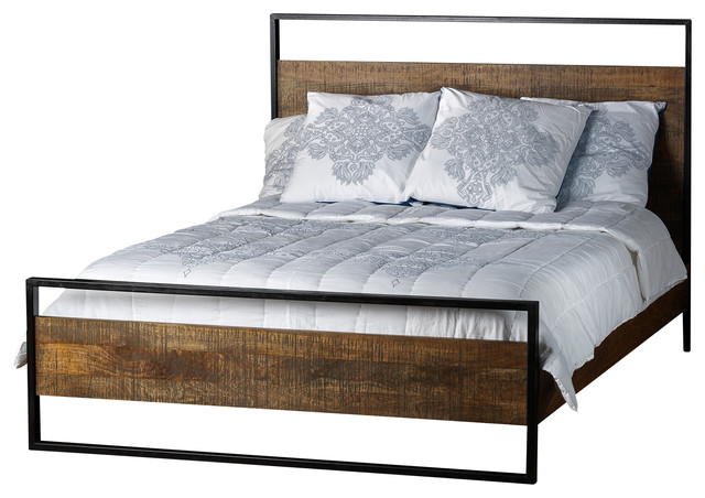 Hanging outdoor bed - Delia Bed Made Of Mango Wood King Industrial Beds By Artemano