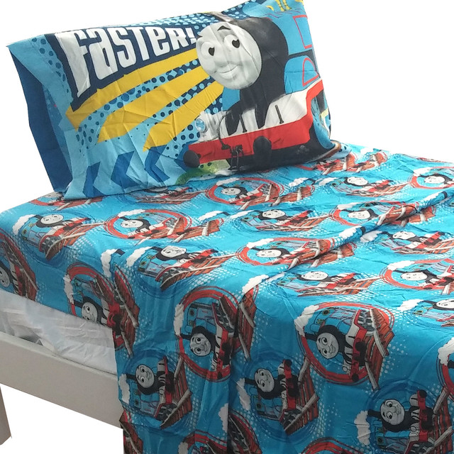 Http Www Houzz Com Photos 18365960 Thomas Train Full Sheet Set Tank Engine Faster Bedding Contemporary Kids Bedding
