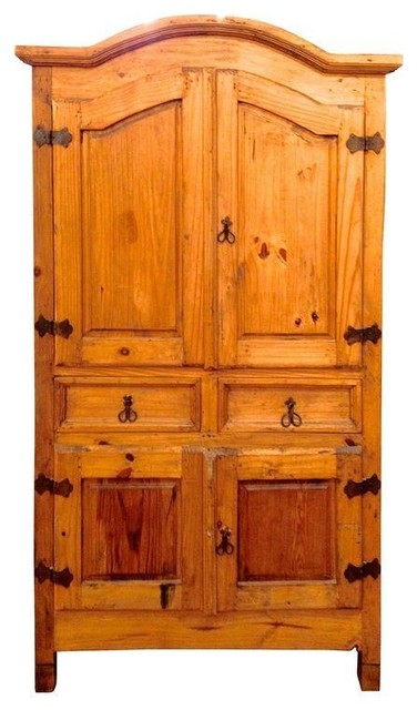 pre owned rustic pine armoire rustic armoires and. Black Bedroom Furniture Sets. Home Design Ideas